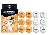 Schildkröt Unisex– Erwachsene Donic Tischtennisball Jade, Poly 40+ Qualität, 12 STK. im Polybag, 6 x weiß / 6X orange, Einheitsgröße
