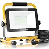 Novostella LED Baustrahler 60W 6000LM (Ersetzt 450W) LED Arbeitsscheinwerfer Baulampe, IP65 Wasserdicht 3030 LED 5M Kabel 6000K Tageslichtweiß,...