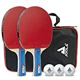 JOOLA 54820 Tischtennis-Set Duo Bestehend aus 2 Tischtennisschläger+3Tischtennisbälle+1Aufbewahrungstasche,mehrfarbig,onesize