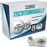 PHIBER-SPORTS Premium Tischtennisbälle 3 Stern [24 Stück] – Perfekte Spieleigenschaften - Ideal für Anfänger, Familien und Profis - Nach...